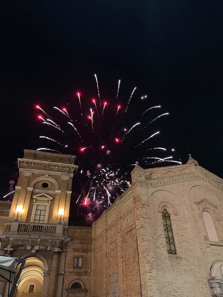 Some festivities above the main piazza in Recanati
