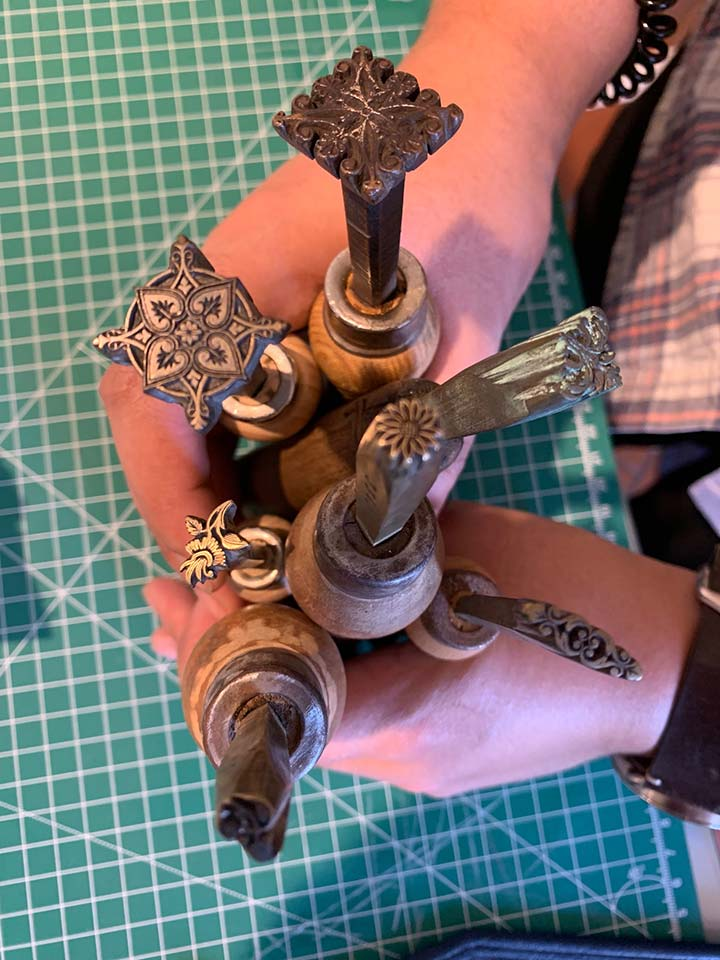 Our students learned some tooling with these antique Finishing Tools