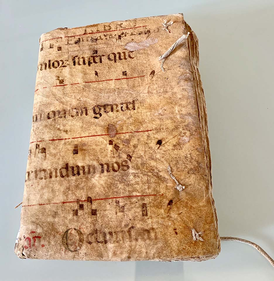 Reused parchment in a semi-limp archival binding