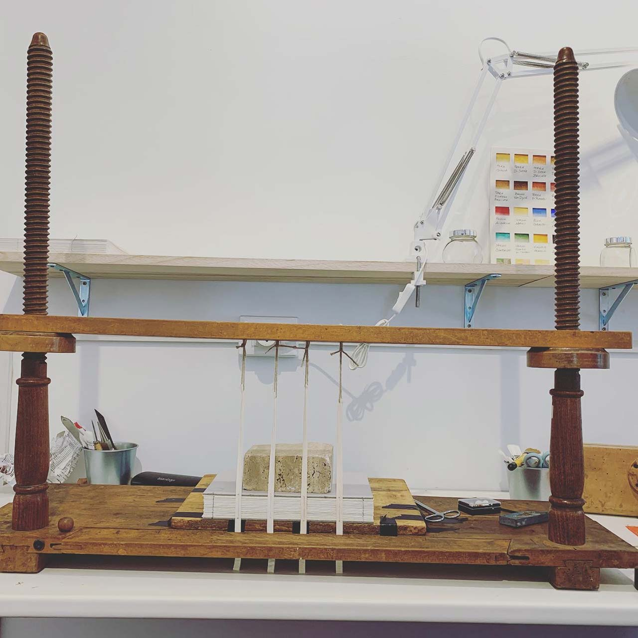 Setting up a sewing frame