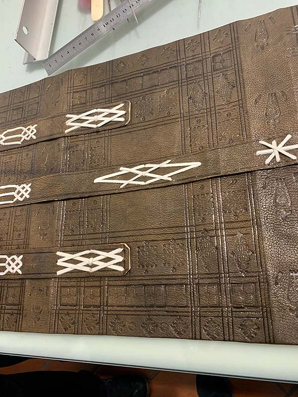 Archival Binding facsimilie made by a student in the 'Historical Bookbinding' course