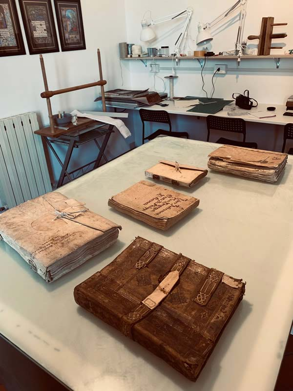 Some of the original archival bindings available to our students